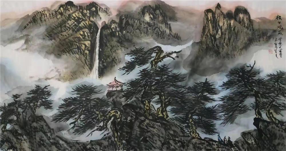 山水情深融笔墨:著名画家宋智明作品鉴赏