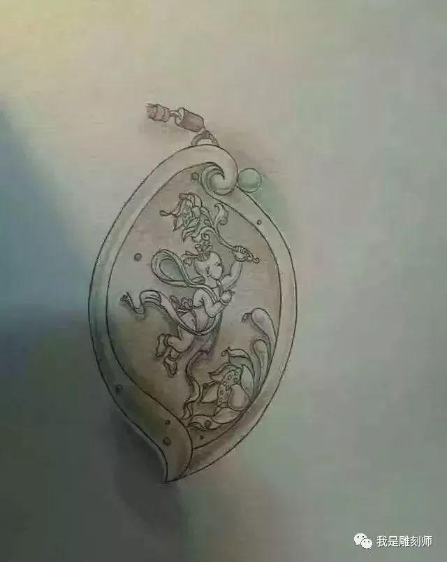 我是雕刻师,素材篇|玉雕仿古设计手稿