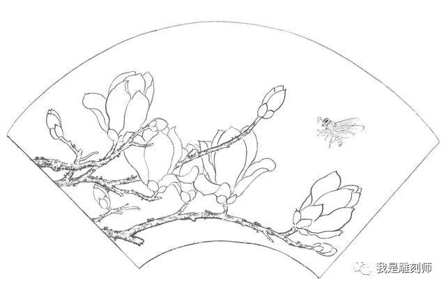 零基础工笔画教程:玉兰花的工笔画法,喜欢国画的都快来临摹吧图片
