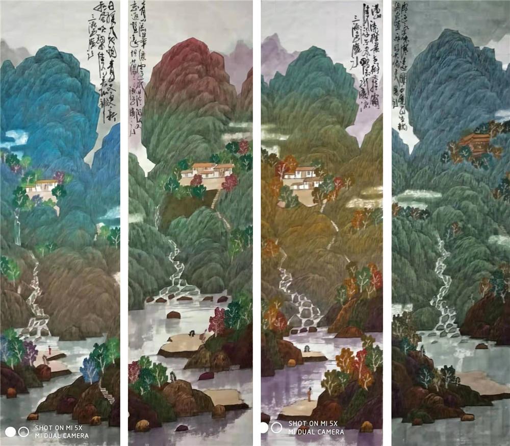 探索陳寶元中國色彩山水畫藝術