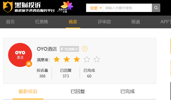 "OYO成投诉""重灾区"" 松散合作背后现""僵尸""酒店"