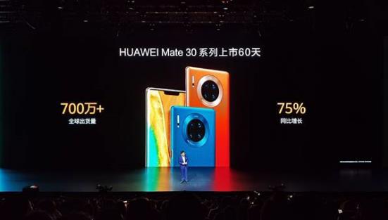"""出货量60天破700万 华为Mate30系列 5G手机用""""完美""""定义爆款"""