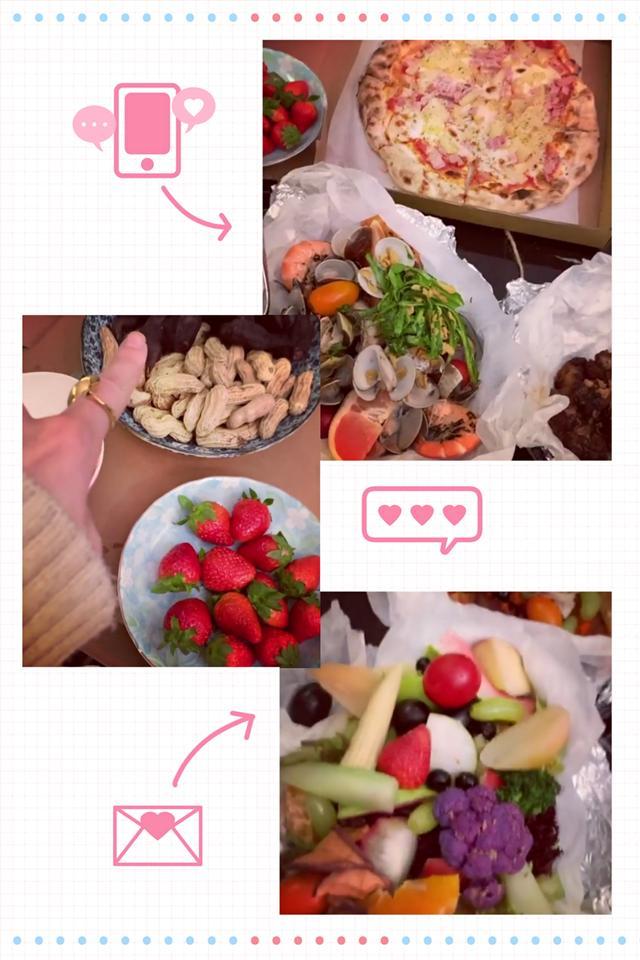我的关键词 曾之乔情人节晒照,直男辰亦儒送菱角和草莓,搂着老婆肩膀超甜蜜  时尚