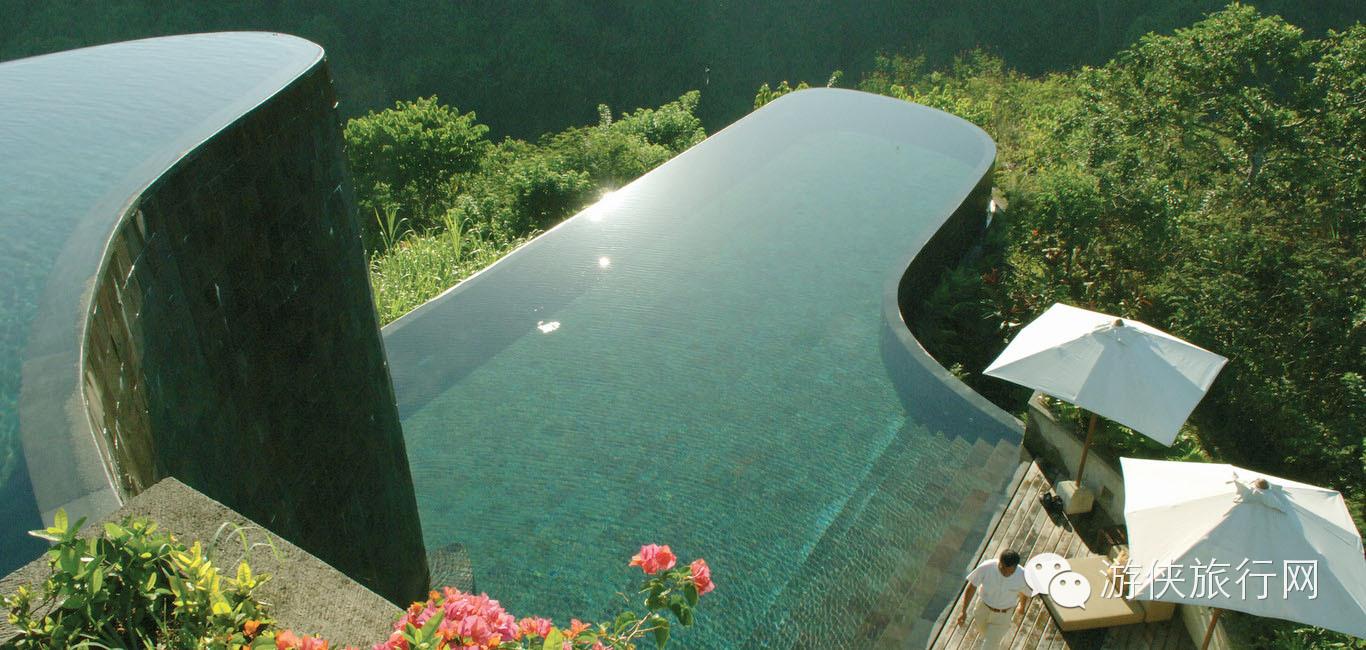 梦幻极致空中双层无边泳池——巴厘岛乌布空中花园