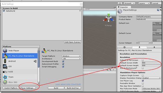 【Unity】1.2 HelloWorld--测试桌面和Android游戏能否正常运行 Unity3D教程 第8张
