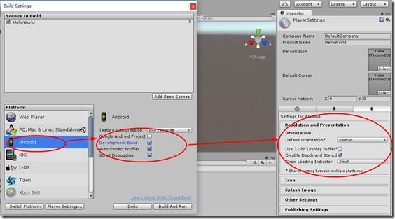 【Unity】1.2 HelloWorld--测试桌面和Android游戏能否正常运行 Unity3D教程 第13张