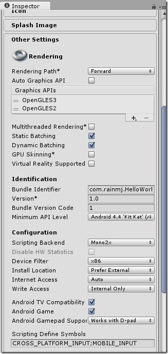 【Unity】1.2 HelloWorld--测试桌面和Android游戏能否正常运行 Unity3D教程 第14张