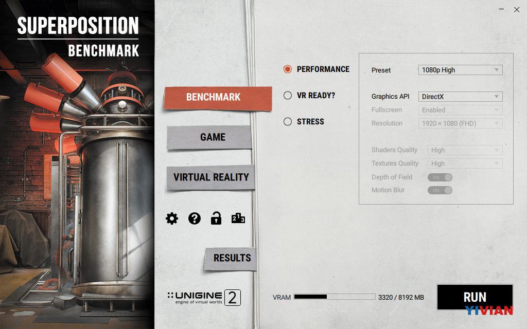 Unigine发布GPU基准测试工具,含VR物理渲染性能 AR资讯 第2张