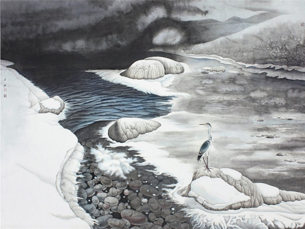 当代花鸟画名家石立兴绘画艺术
