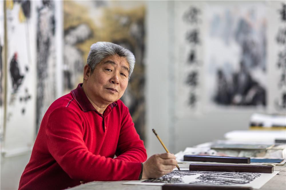 品读当代著名画家高杰山水画艺术
