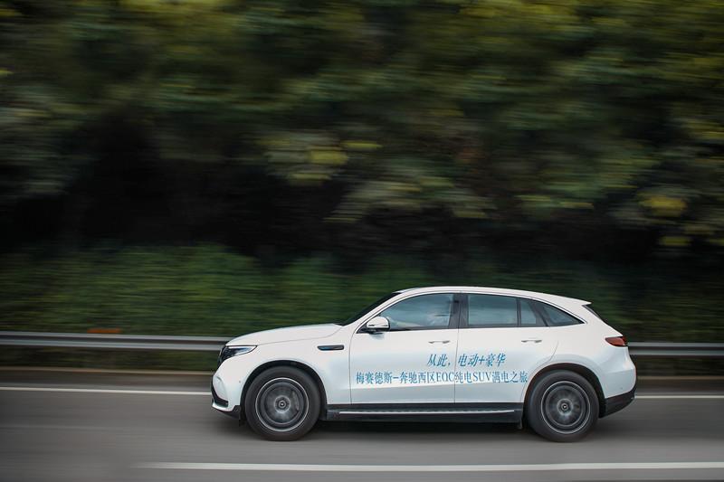 纯电动也能逃离都市,试驾奔驰EQC,体验差异化的舒适