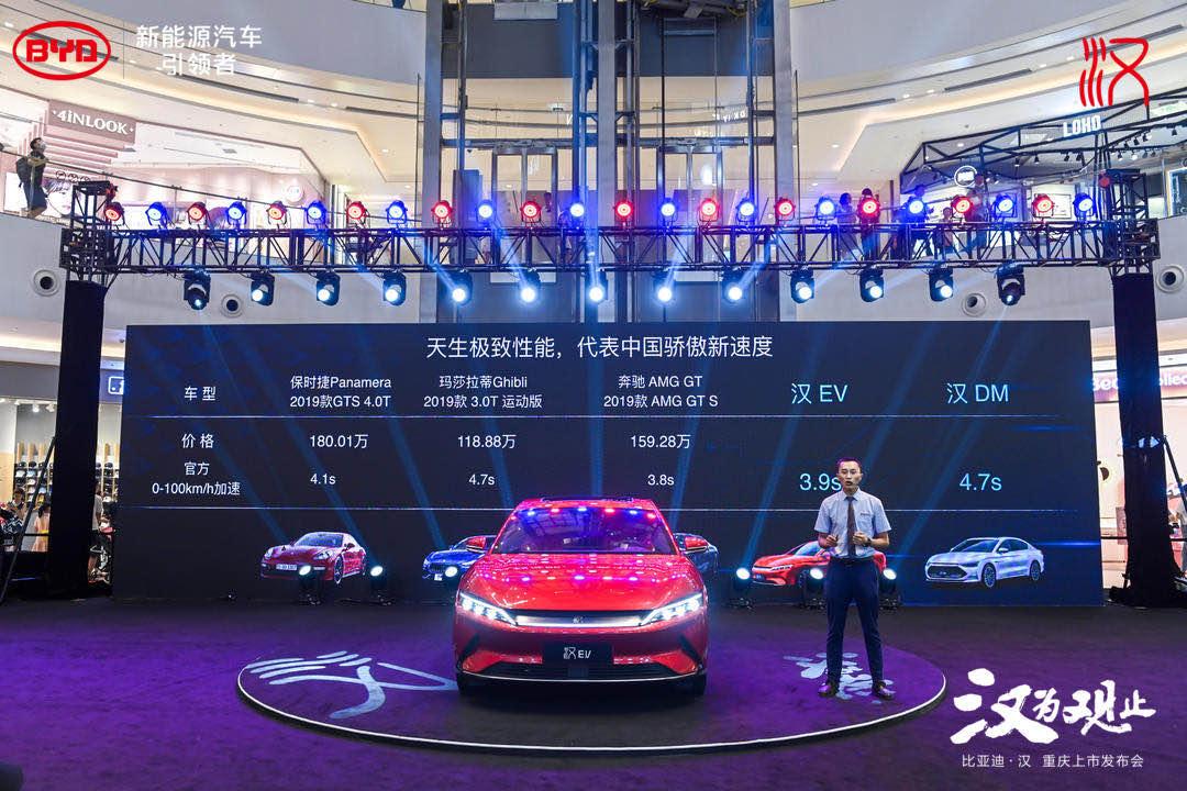 来福士引起4层楼围观,比亚迪汉重庆上市有何看点?