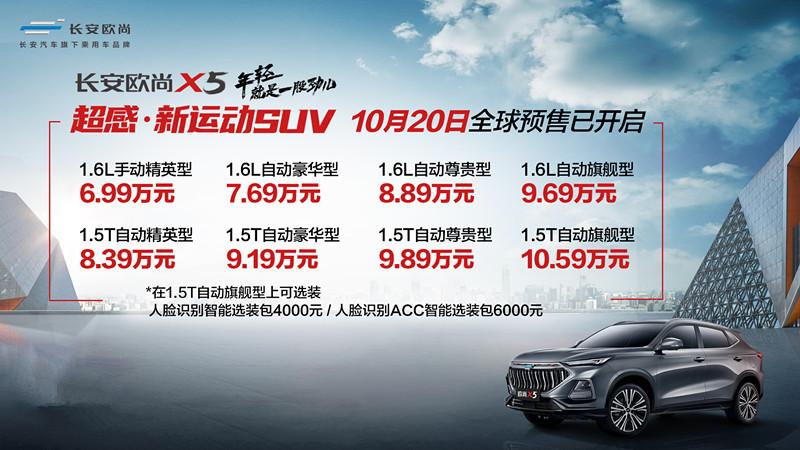 全系六大标配,长安欧尚X5预售仅6.99万起,细分市场颠覆者来了