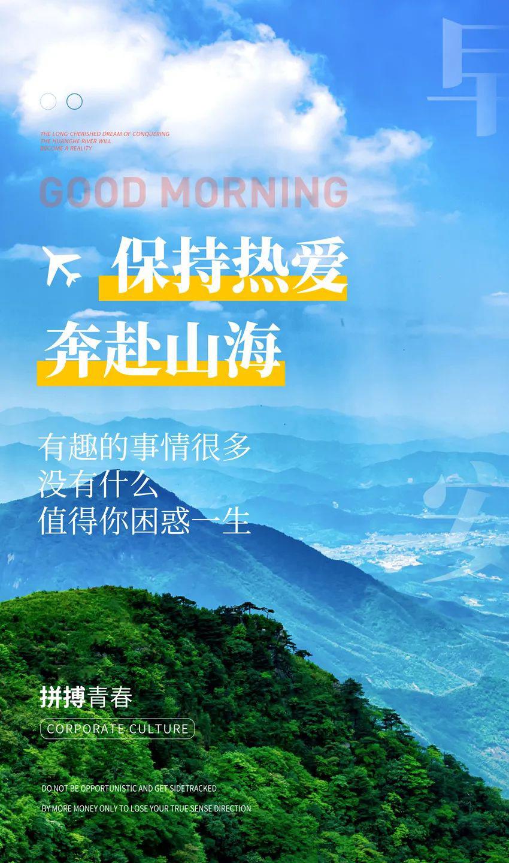 新一周早上好正能量语句图片,激励早安语,保持热爱