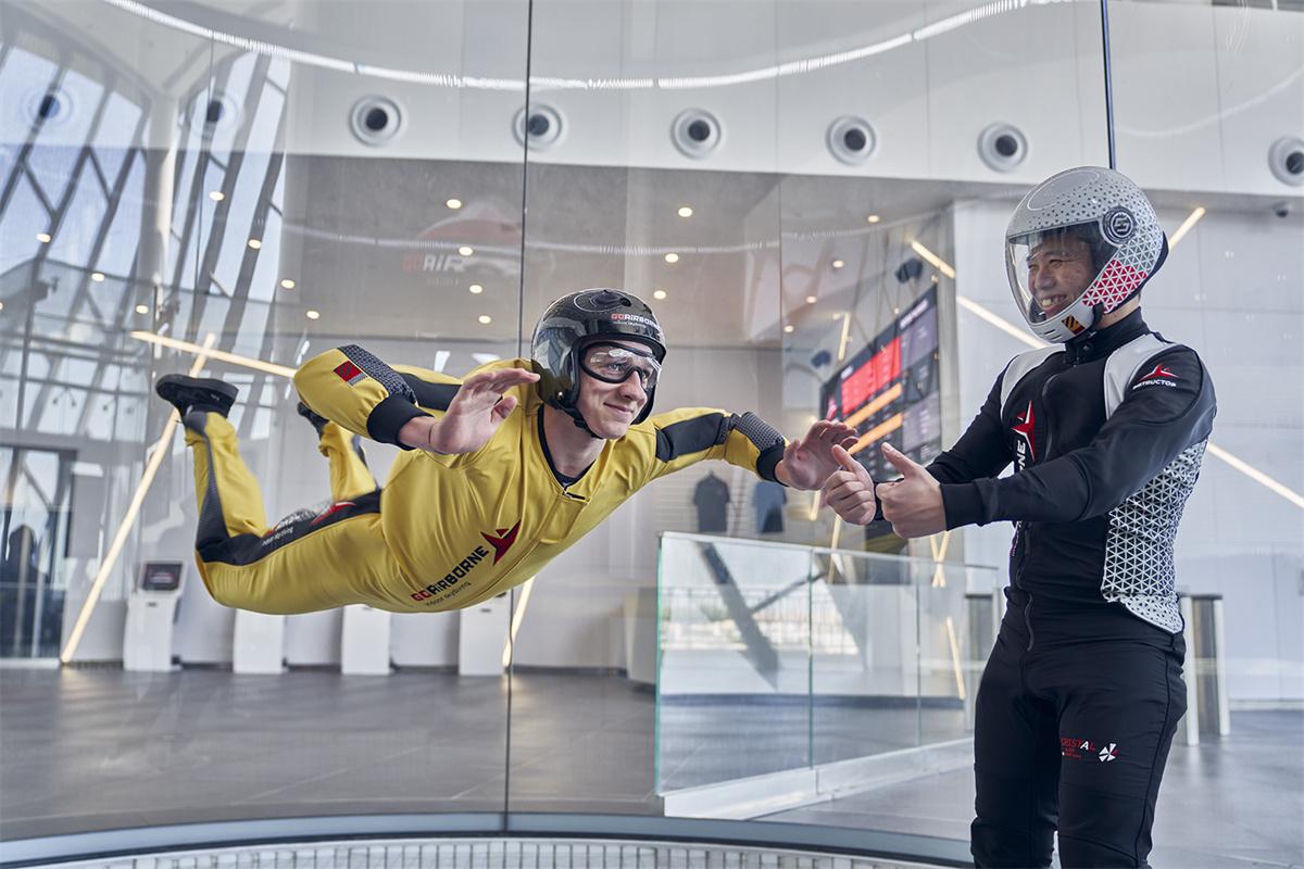 一起玩GoAirborne ,人人都能起飞!   首个室内跳伞体验,今秋于澳门葡京人正式试业