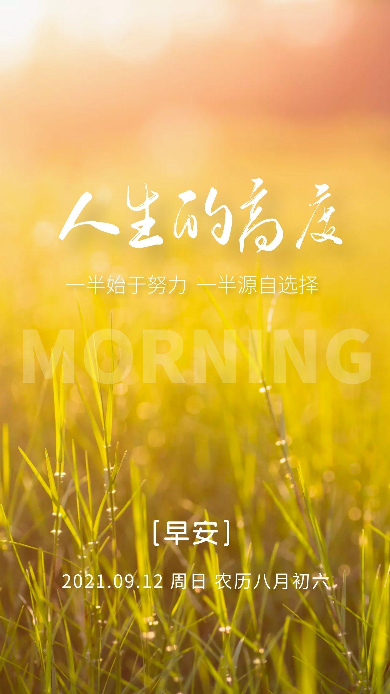 阳光温暖的早安图片说说,每一缕阳光,都是生活的芬芳